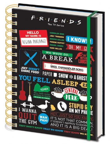 Friends - A5 Notebook - Famous Quotes